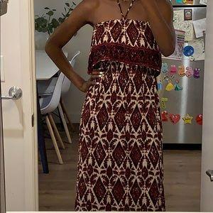 Long tribal maxi dress
